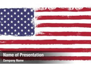 American grunge version flag stars