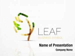 Idea, abstract logo eco leaf,