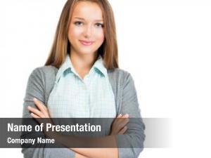Girl confident teenage portrait