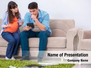 Budget young family planning concept