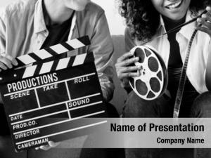 Movie young women film reel
