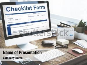 Questionnaire checklist form application