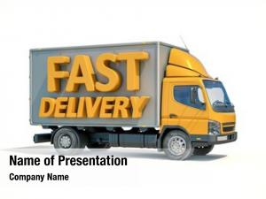 Postal render: yellow truck sign