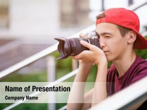 Taking teenage boy photos outdoors