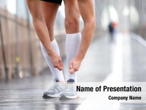 Runner running shoes man tying