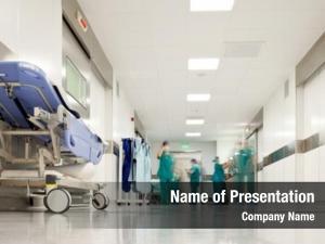 Emergency hospital hallway, room