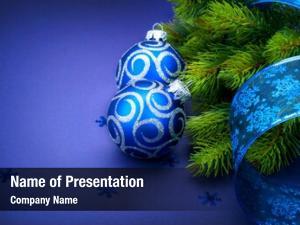 Baubles christmas blue ribbon snowflakes