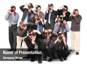 Paparazzi many photographers double twelve