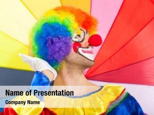 Clown funny colorful portrait against