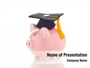 Education: high cost mortarboard piggy