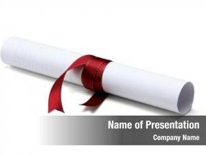 White university diploma