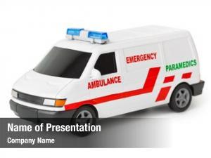 Car toy ambulance white