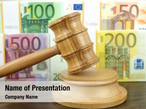 Money auction gavel euro