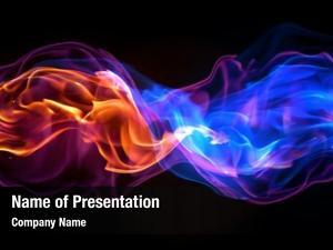 Colored fire wave plasma fire