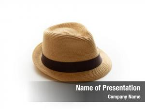 Hat small fedora brown band