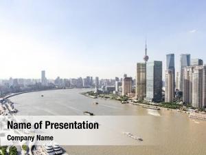 Metropolitan shanghai bird view