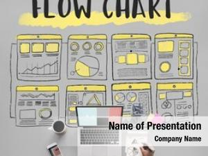 Business flow chart planning layout