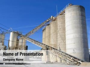 Processing industrial cement facility