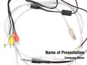 Cable silver usb audio video
