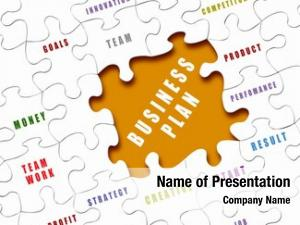 Business puzzle pieces terms written