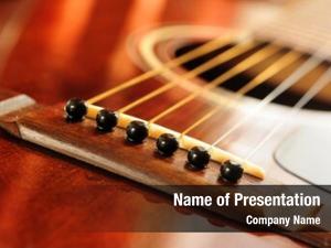Bridge acoustic guitar strings close