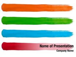 Blue orange, green, red stripes