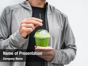 Detox green juice drink healthy