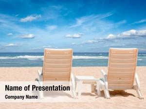 Chairs two beach sunbathing beach