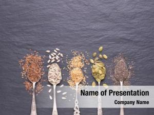 Sesame, various seeds flax seeds,
