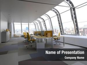 Office modern commercial curved glass