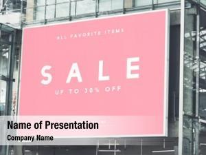 Billboard large scale rectangular mockup