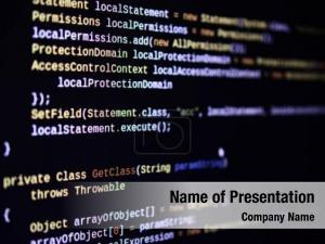 Code software source macro shot