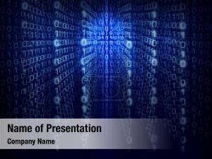 Code binary computer matrix blue