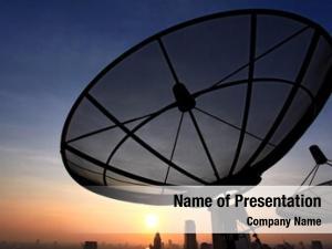 Communication black antenna satellite dish