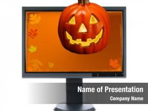 Halloween lcd monitor over white