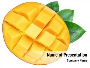 Mango cross section fruit cut