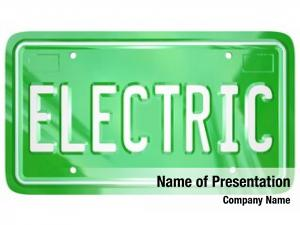 Green word electric metal license