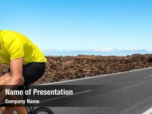 Cyclist road biking man training