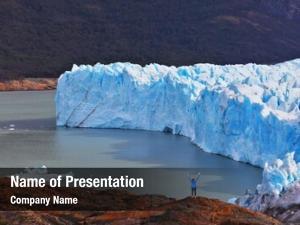 Admire woman tourist white blue icy