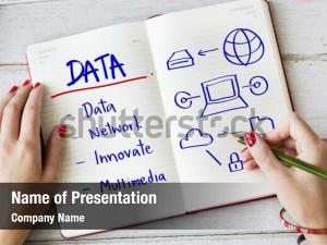 Cyberspace network powerpoint template