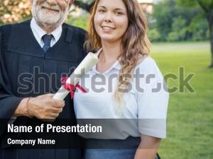 Graduation celebration powerpoint template
