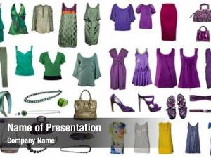Clothes collection icons accessories internet