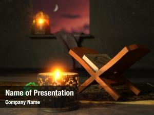 Religious render islamic book, rehal,