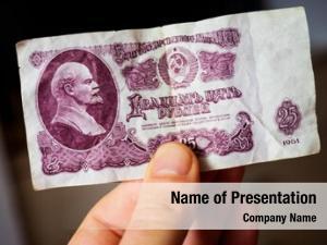 Ussr vintage rubles banknote