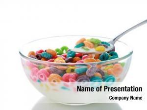 Cereal kids breakfast loops spoon