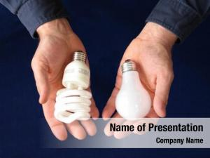 Holding one hand compact fluorescent