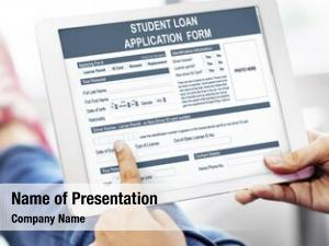 Application student loan form concept