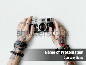 Attractive photography tattoo camera