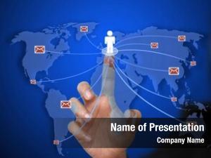 Send business woman e mail world