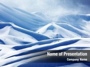 Ski winter mountain resort landscape